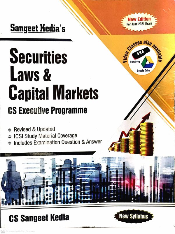 Pooja Law House For CS Executive Securities Laws Capital Market (New Syllabus) By Sangeet Kedia (Pooja Law House Publishing) forMay June 2021