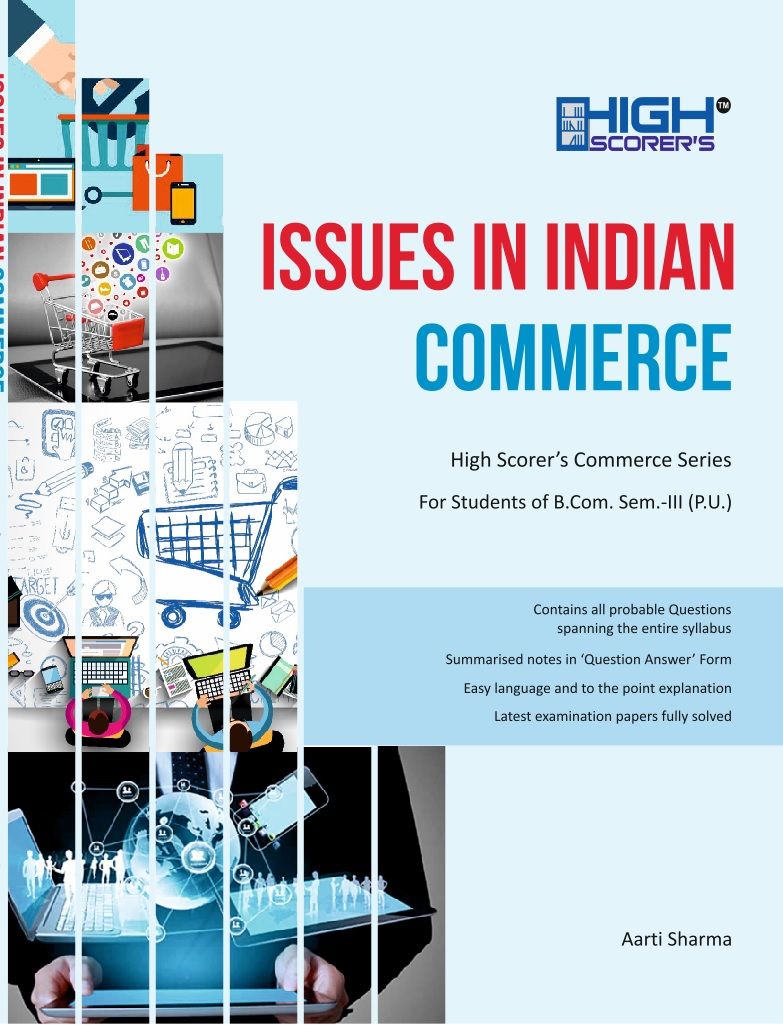 High Scorer's Issues in Indian Commerce for B.Com Semester-III by Aarti sharma (Mohindra Publishing House) Edition 2020 Panjab University