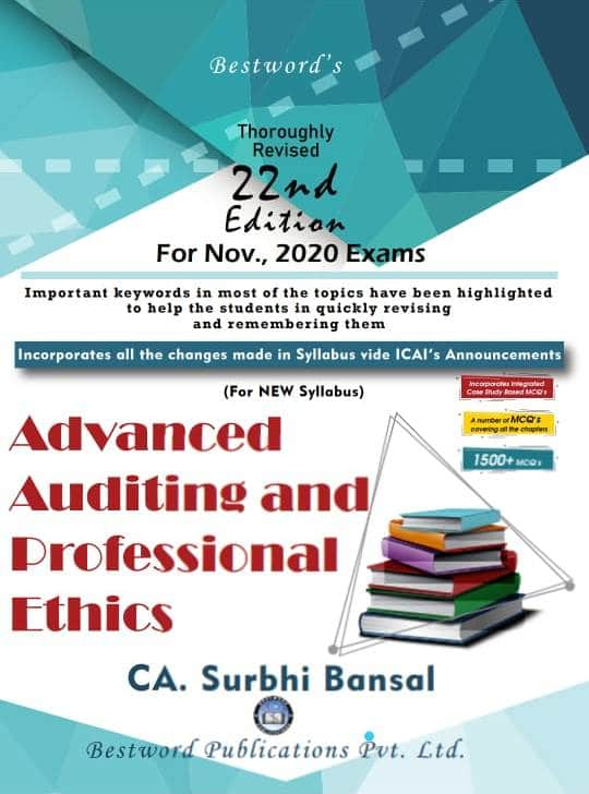 Bestword CA Final Advanced Auditing & Professional Ethics New Syllabus both By Surbhi Bansal (Bestword's Publishing) for November 2020