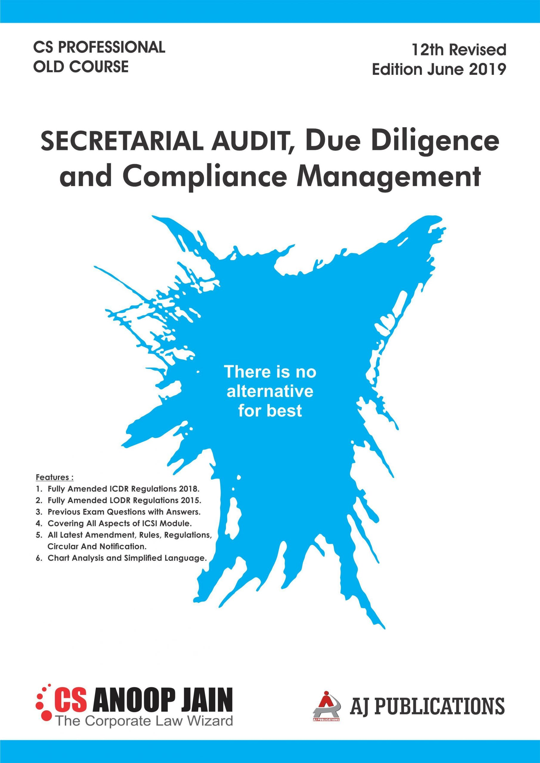 AJ Publication Secretarial Audit, Compliance Management And Due Diligence old syllabus for CS Professional by CS Anoop Jain for June 2020 Exam