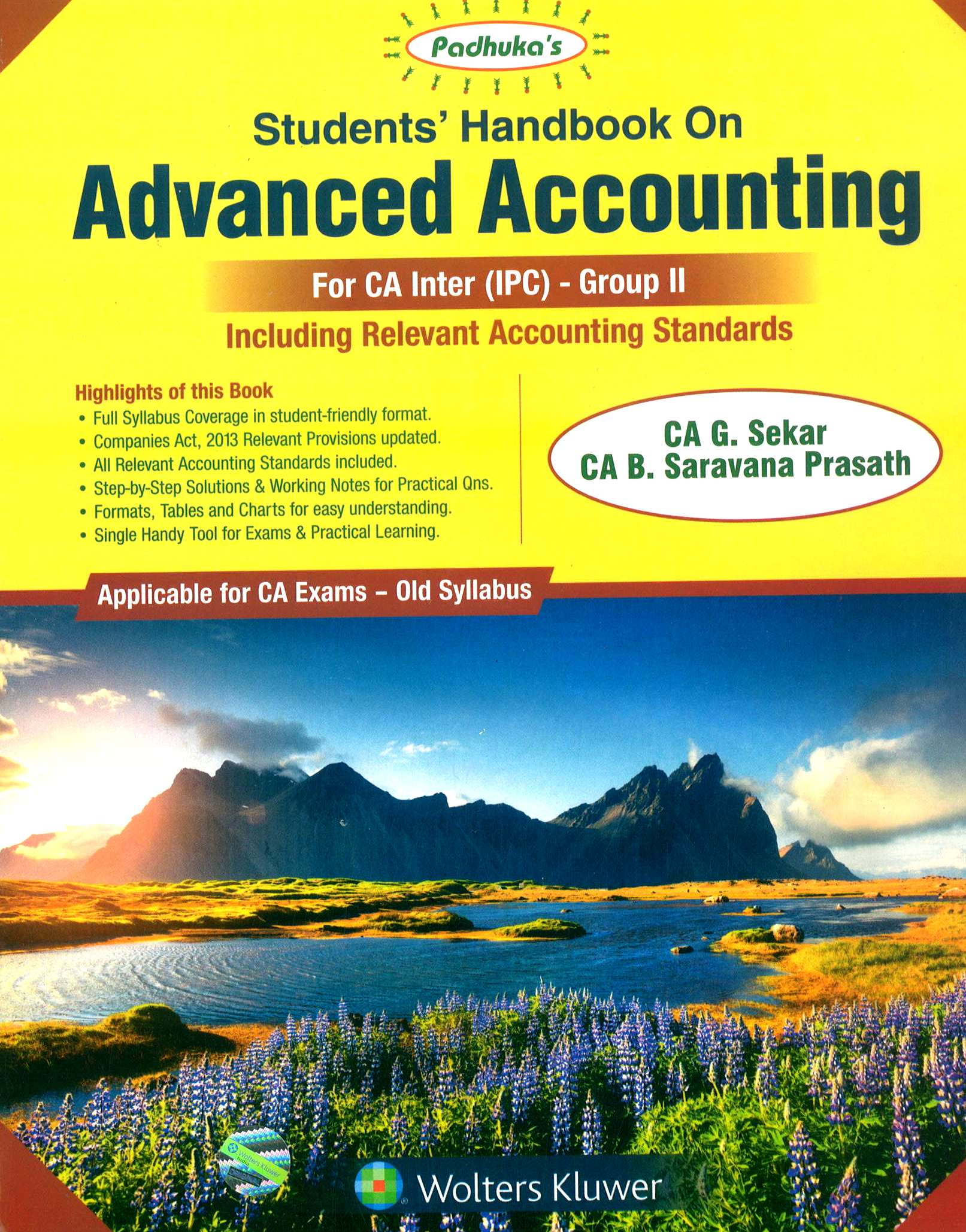 OUT OF STOCKSale CCH Padhuka Advance Accounting Old Syllabus for CA IPCC  Group 2 By G Sekar and B
