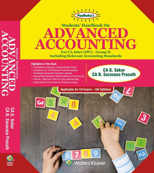 CCH Padhuka Advance Accounting Old Syllabus for CA IPCC Group 2 By G Sekar and B Sarvana Prasath Applicable for May 2018 Exam 9th Edition November 2017
