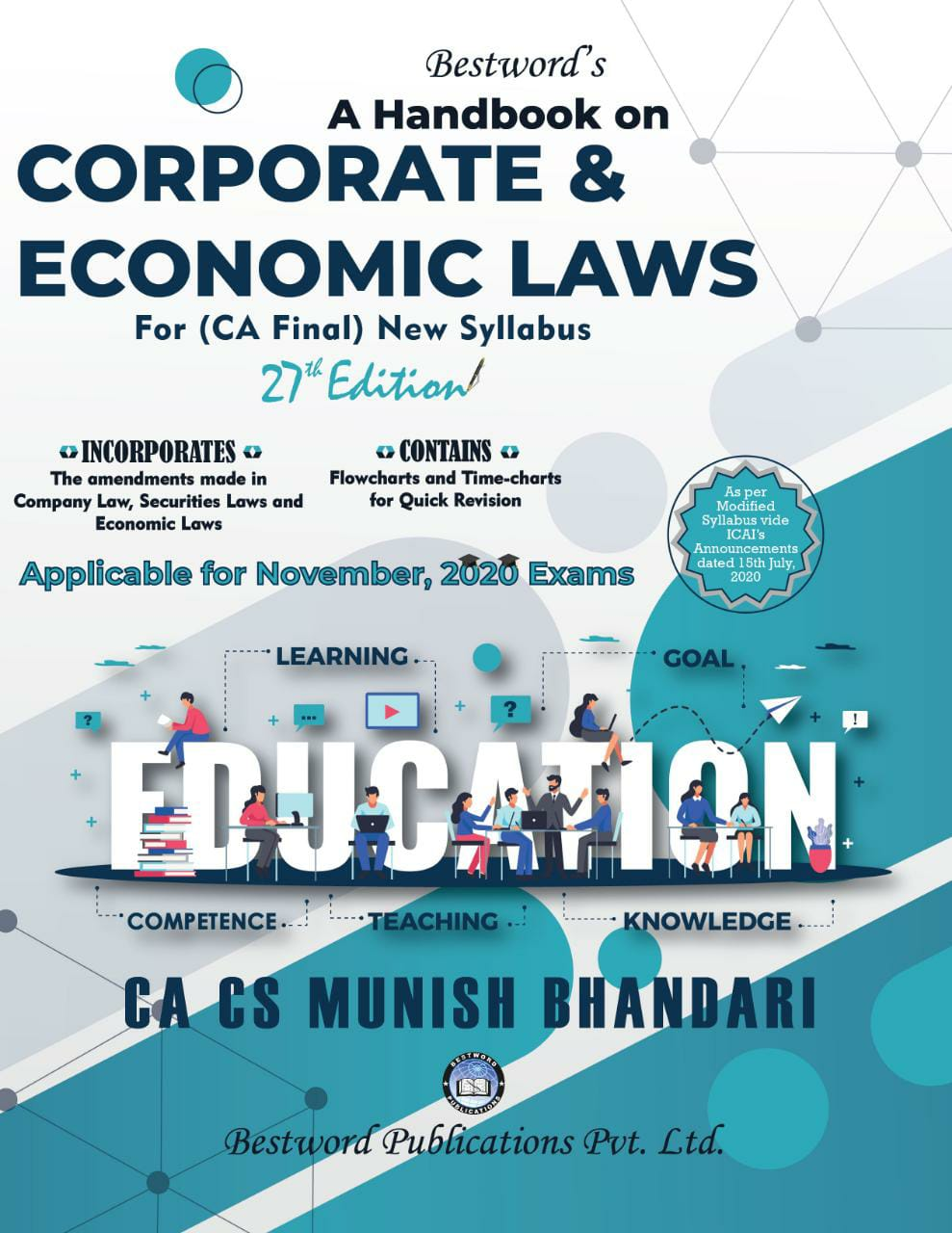 Bestword CA Final Handbook on Corporate and Economic Laws New Syllabus By Munish Bhandari Applicable for Nov 2020 Exam
