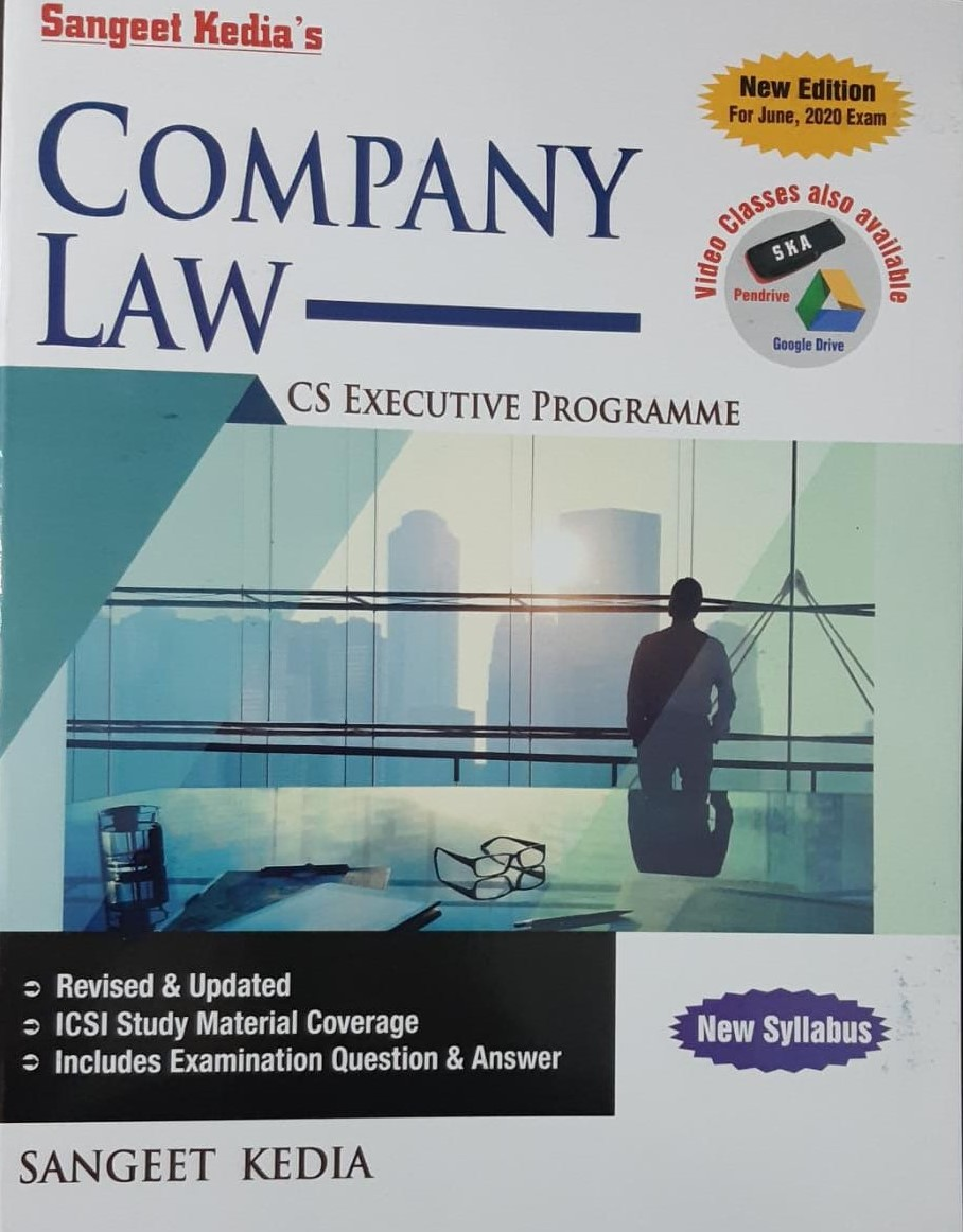 Pooja Law House For CS Executive Company Law new syllabus by Sangeet Kedia (Pooja Law House Publishing) for May June 2020 exams