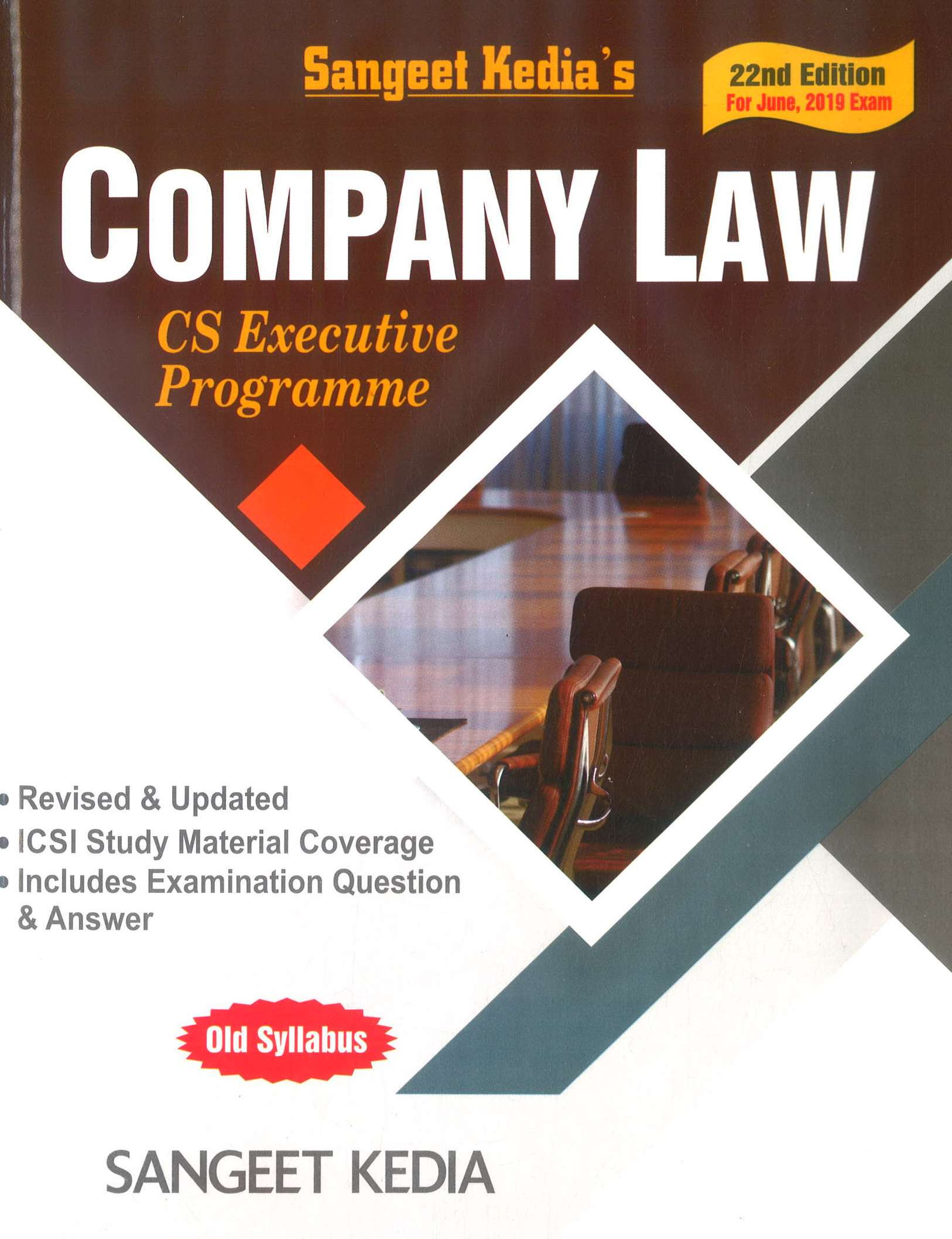 Pooja Law House For CS Executive Programme Company Law by Sangeet Kedia Applicable For June 2019 Exam (Pooja Law House Publishing) Edition 22nd, 2019