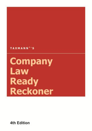 Taxmann Company Law Ready Reckoner 4th Edition 2017