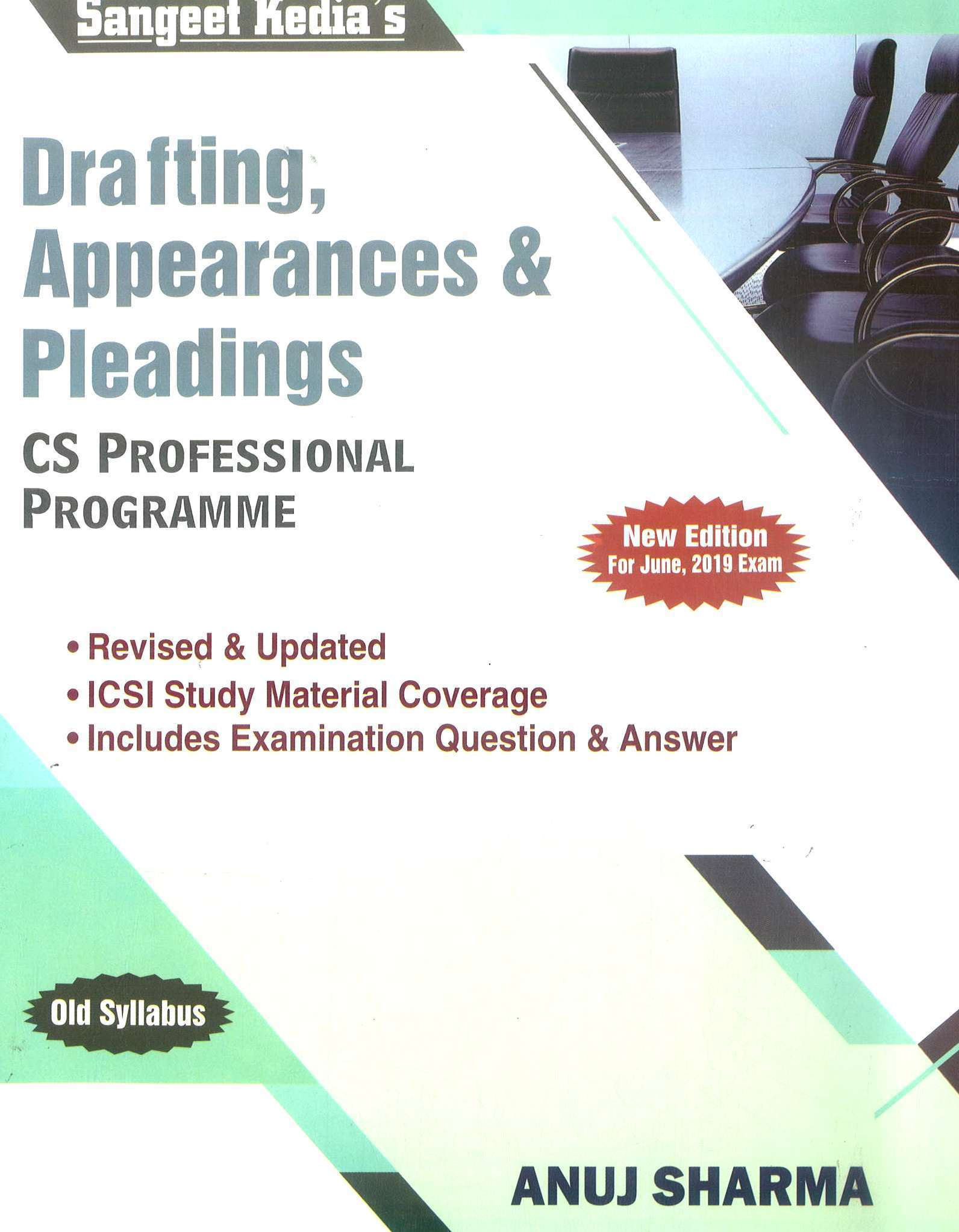 Pooja Law House Sangeet Kedia CS Professional Drafting Appearance & Pleadings New Syllabus By Anuj Sharma Applicable for June 2019 Exam