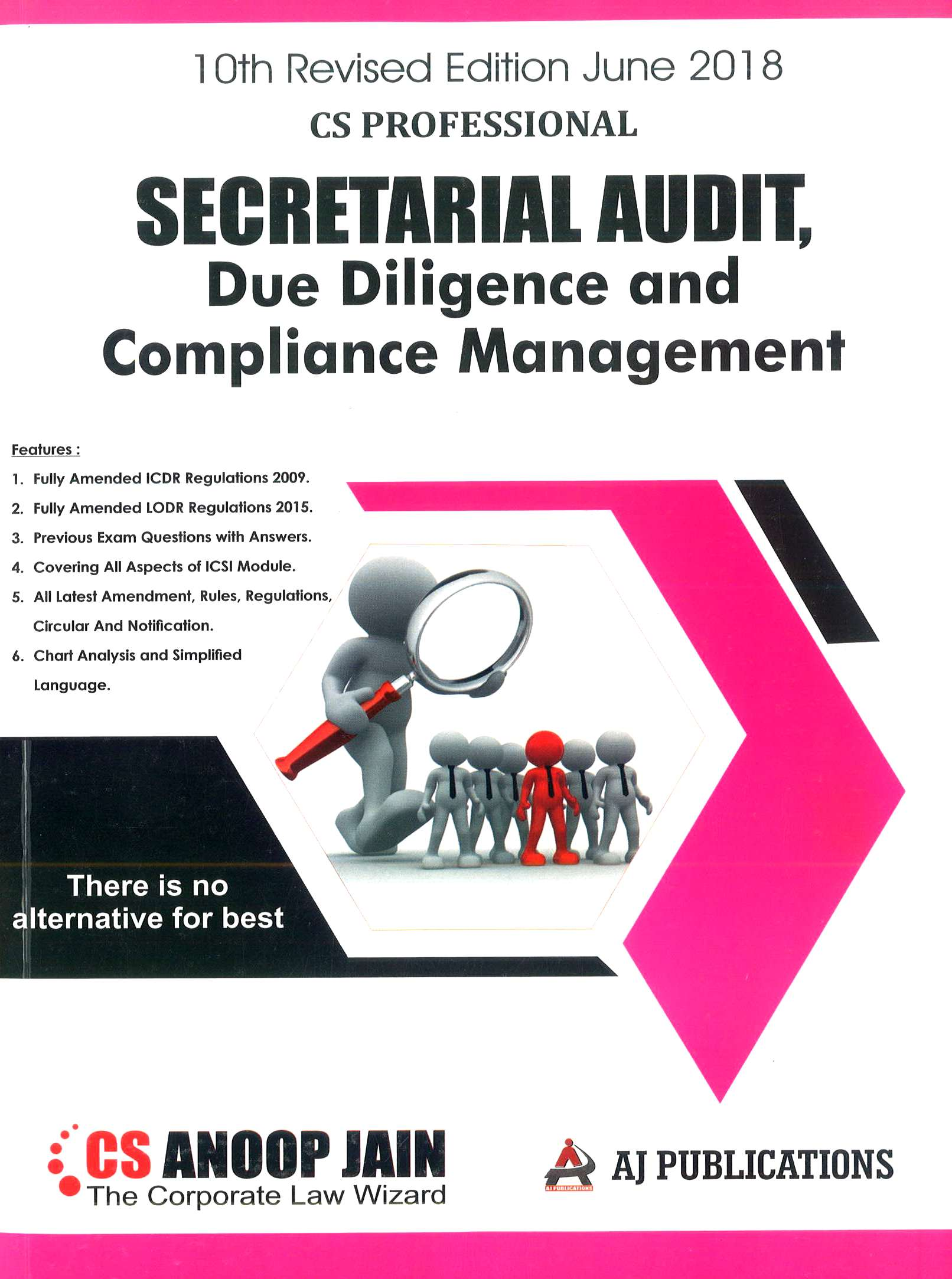 AJ Publication Secretarial Audit, Compliance Management And Due Diligence for June 2018 Exam for CS Professional by CS Anoop Jain (AJ Publishing) 2018 edition
