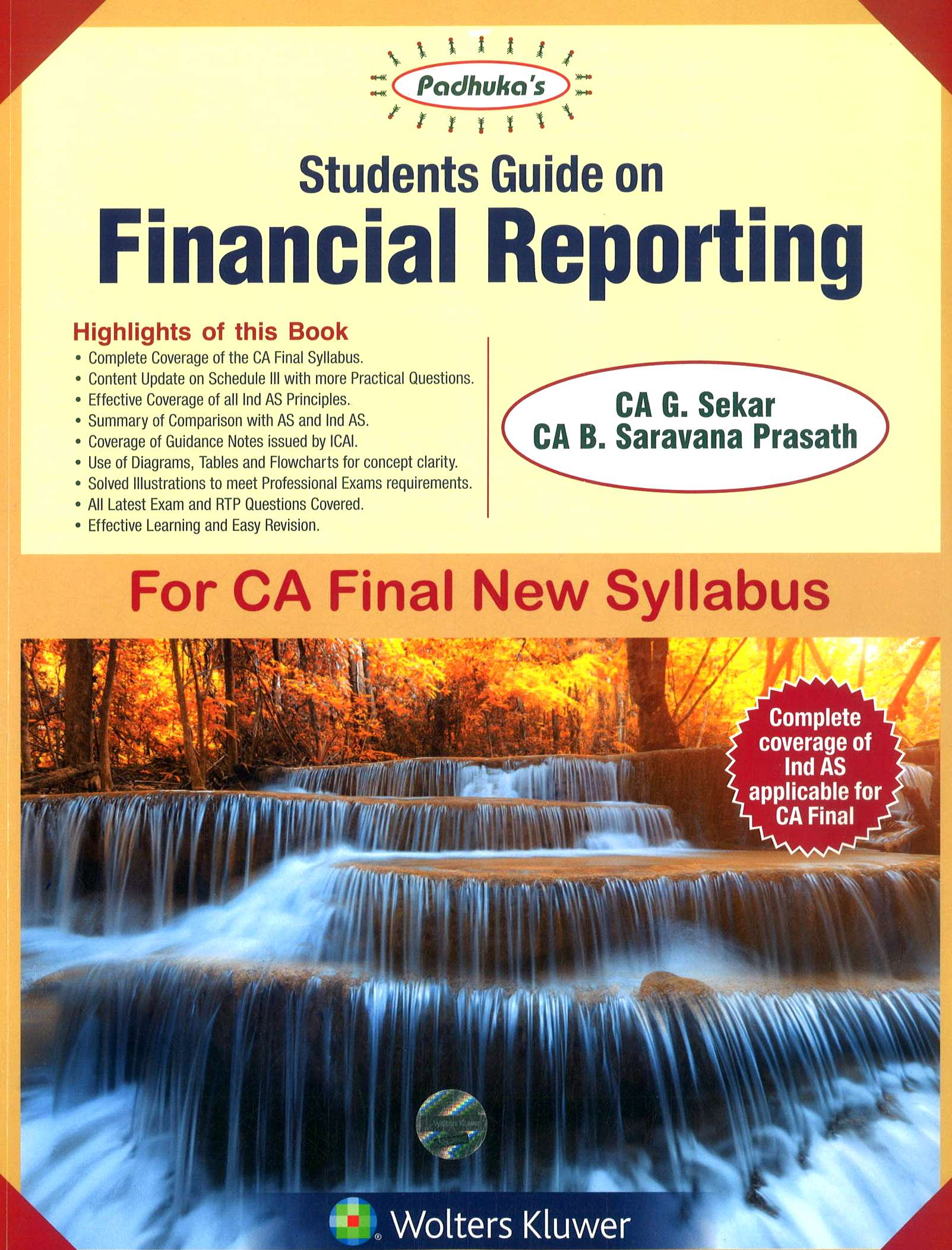 Padhuka's CCH Student Guide on Financial Reporting New Syllabus By G Sekar and B Sarvana Prasath Applicable for Nov 2018 Exam