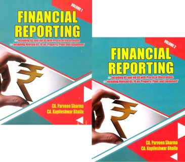 Pooja Law house CA Final Financial Reporting with IND AS & Accounting Standards( Set of 2 Volumes) Old Syllabus By CA Parveen Sharma & CA Kapileshwar Bhalla Applicable for May 2018 Exam