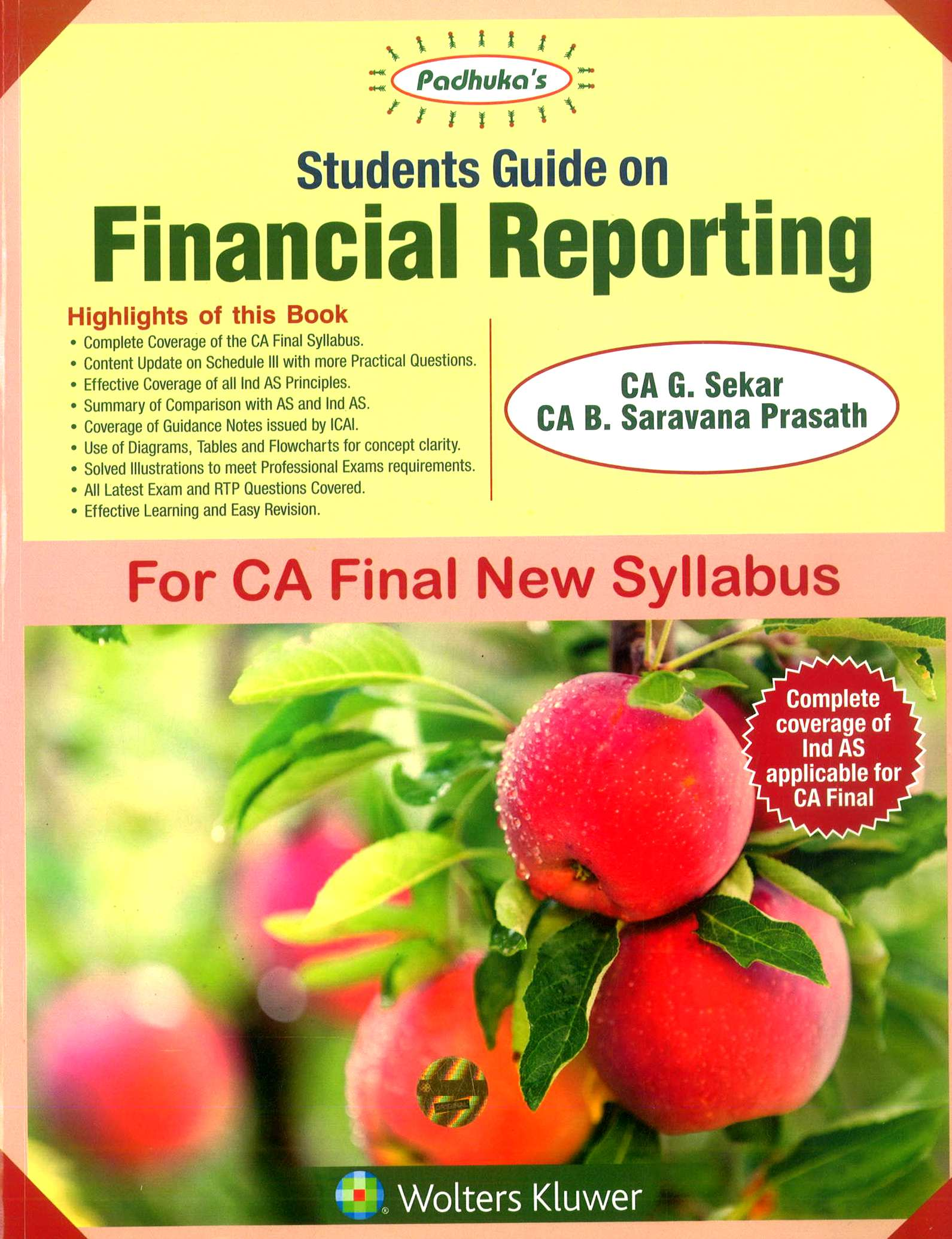 Padhuka's CCH Student Guide on Financial Reporting New Syllabus By G Sekar and B Sarvana Prasath Applicable for May 2019 Exam
