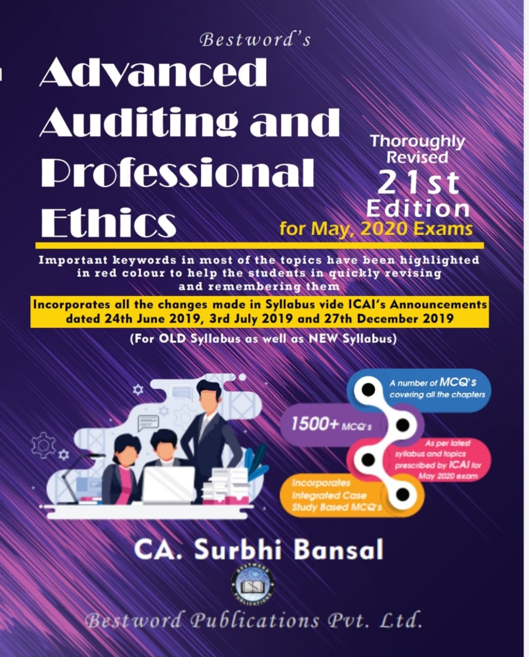 Bestword CA Final Advanced Auditing & Professional Ethics Old Syllabus and New Syllabus both By Surbhi Bansal Applicable for May 2019 Exam (Bestword's Publishing)  May 2020