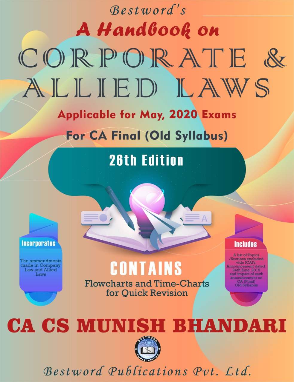Bestword A Handbook on Corporate and Allied Laws CA Final Old Syllabus By Munish Bhandari Applicable for May 2020 Exam