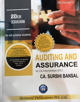 Bestword Auditing and Assurance for CA IPCC by CA Surbhi bansal 20th edition for May 2018 Exam (old syllabus)