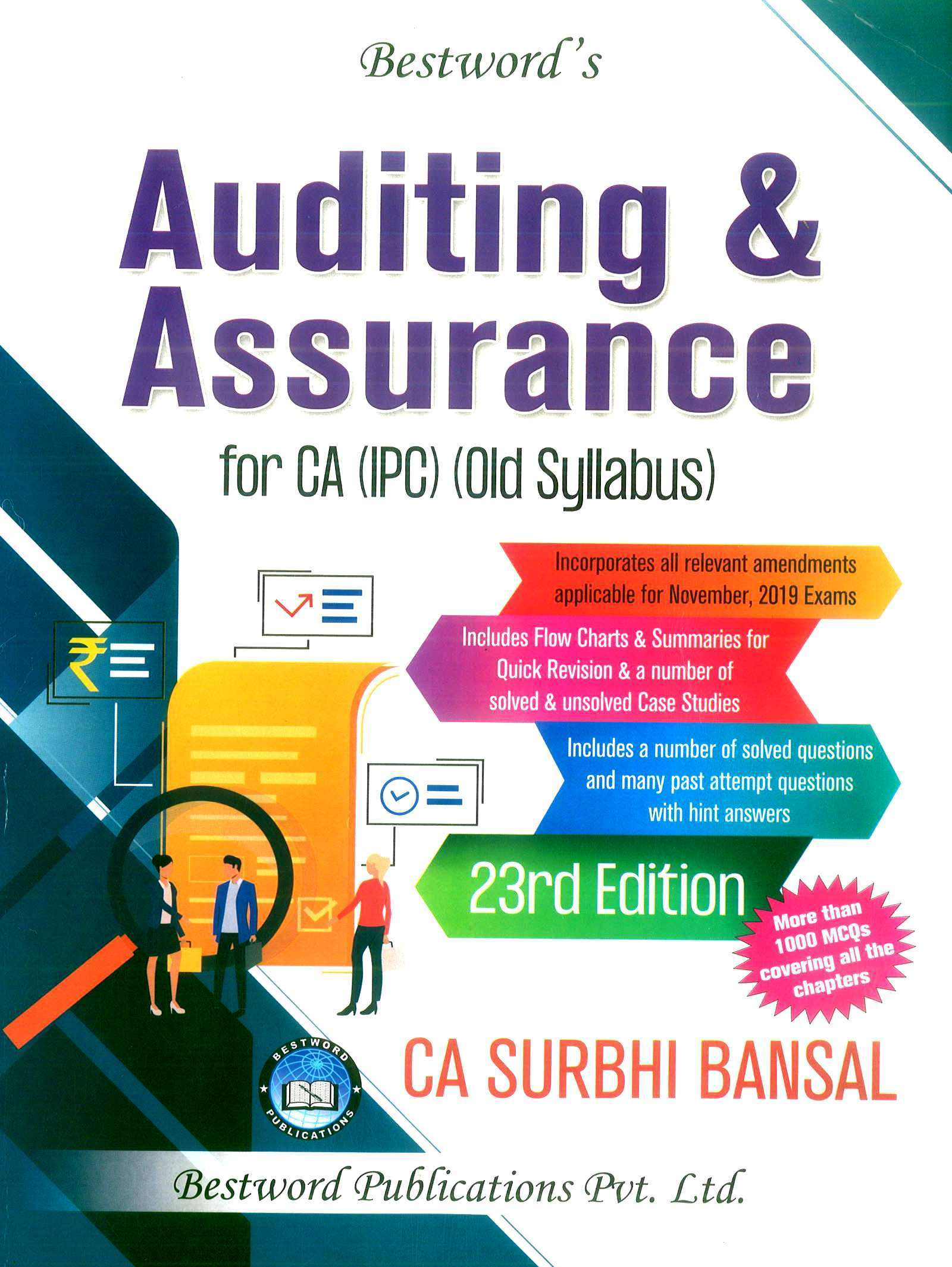 Bestword Auditing and Assurance for CA IPCC by CA Surbhi bansal 23rd Edition for November  2019 Exam (old syllabus)