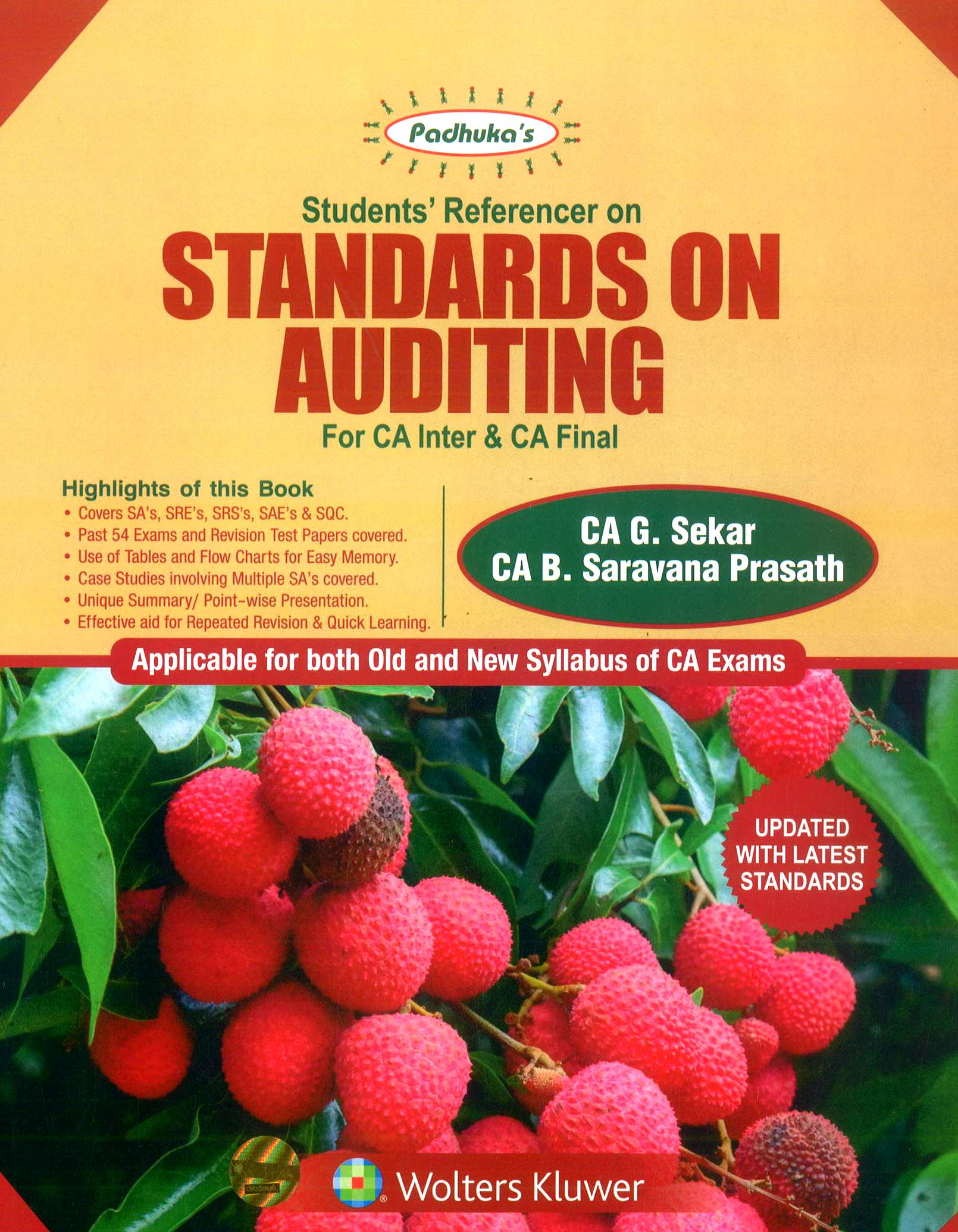 CCH Padhuka Students Referencer on Standards On Auditing for CA IPCC & CA Final By G. Sekar & B. Saravana Prasath Applicable For May 2019 Exam
