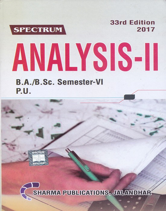 Spectrum Analysis-II for B.A./B.Sc. Semester-VI (P.U.) by D.R. Sharma (Sharma Publication) Edition 33rd 2017