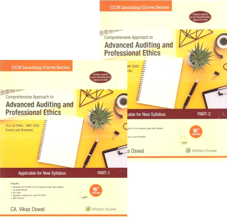 CCH Advanced Auditing and Professional Ethics Both Old & New Syllabus for CA Final By Vikas Oswal Applicable for May 2020 Exam