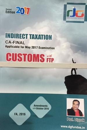 DG Education Indirect Tax(Cenvat Credit, Excise, Common Chapters, Customs, Service Tax ) for CA Final by DIPPAK GUPTA Applicable For Nov 2017 Exam with Amendment Booklet (set of 5 books)