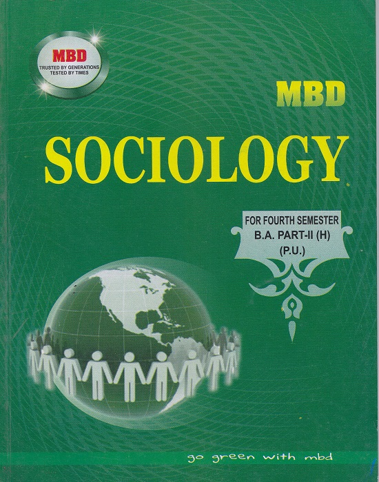 MBD Sociology (Hindi) for Semester-IV B.A. Part-II (Hindi) by Dinesh Ghakar (Malhotra Book Depot) Edition 2017