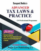 Sangeet Kedia Advanced Tax Laws & Practice for CS Professional June 2017 Exam by Puneet Bhatia 2017 Edition