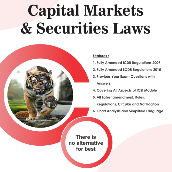 Aj publication CS Executive Capital Market and Security Laws By CS Anoop Jain Applicable for June 2018 Exam
