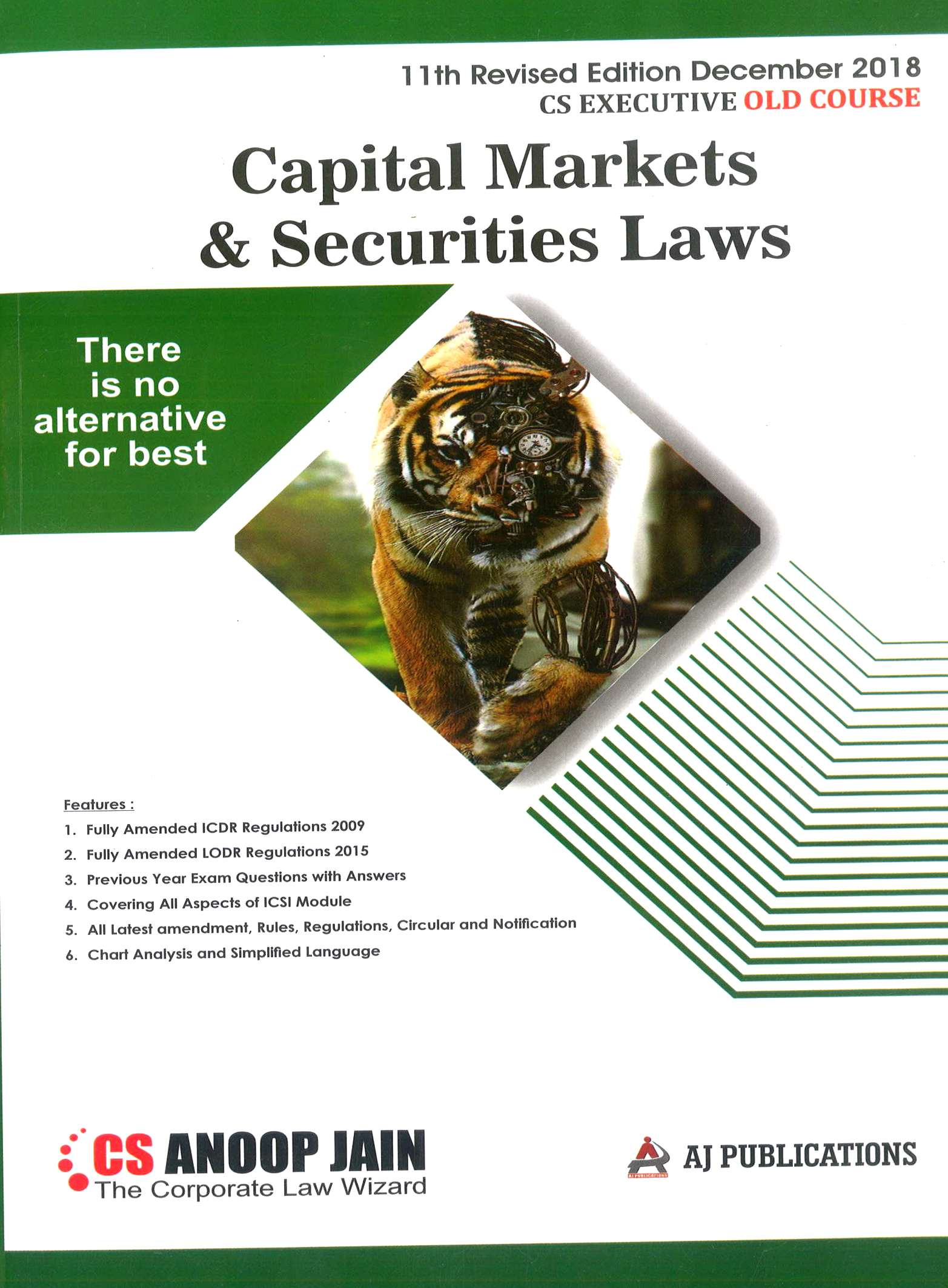 Aj publication CS Executive Capital Market and Security Laws By CS Anoop Jain Applicable for Dec 2018 Exam