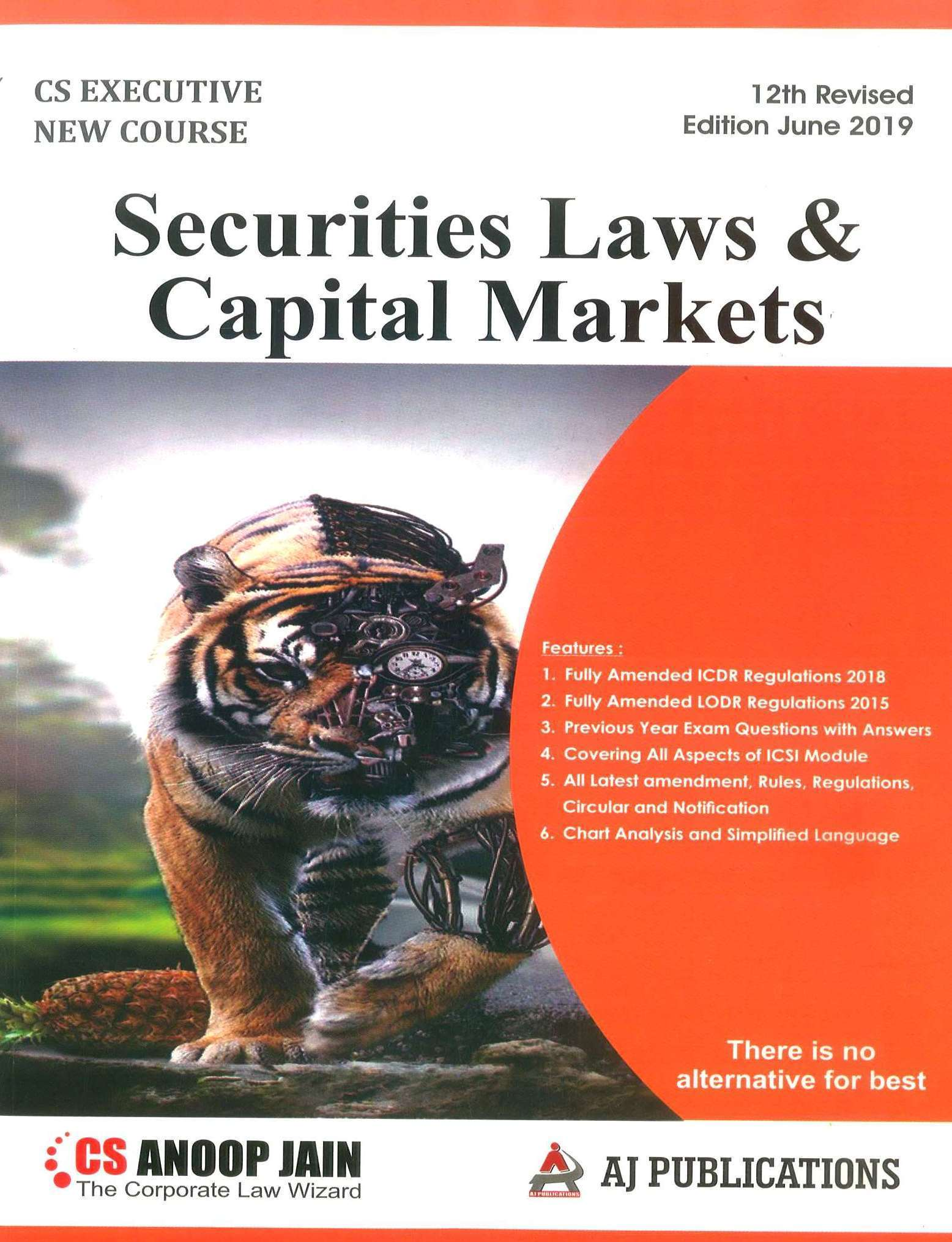 Aj publication CS Executive Securities Laws and Capital Markets New Syllabus By CS Anoop Jain Applicable for June 2019 Exam
