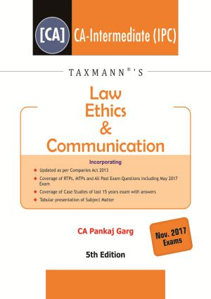 Law Ethics & Communication by Pankaj Garg  FOR Nov.2017 Exams