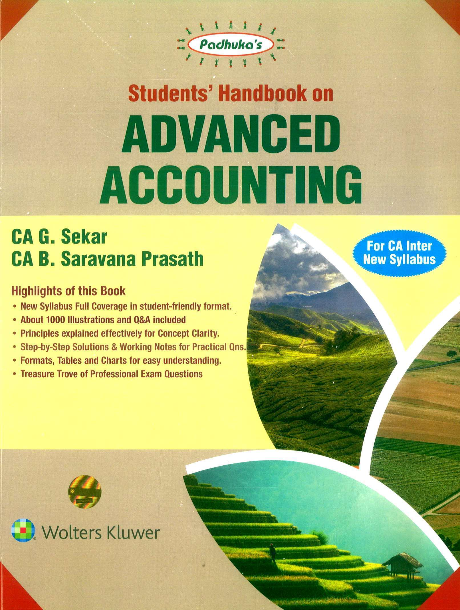 Students' Handbook on Advanced Accounting By Ca B Saravana Prasath Ca G Sekar New Syllabus Applicable for Nov 2019 Exam