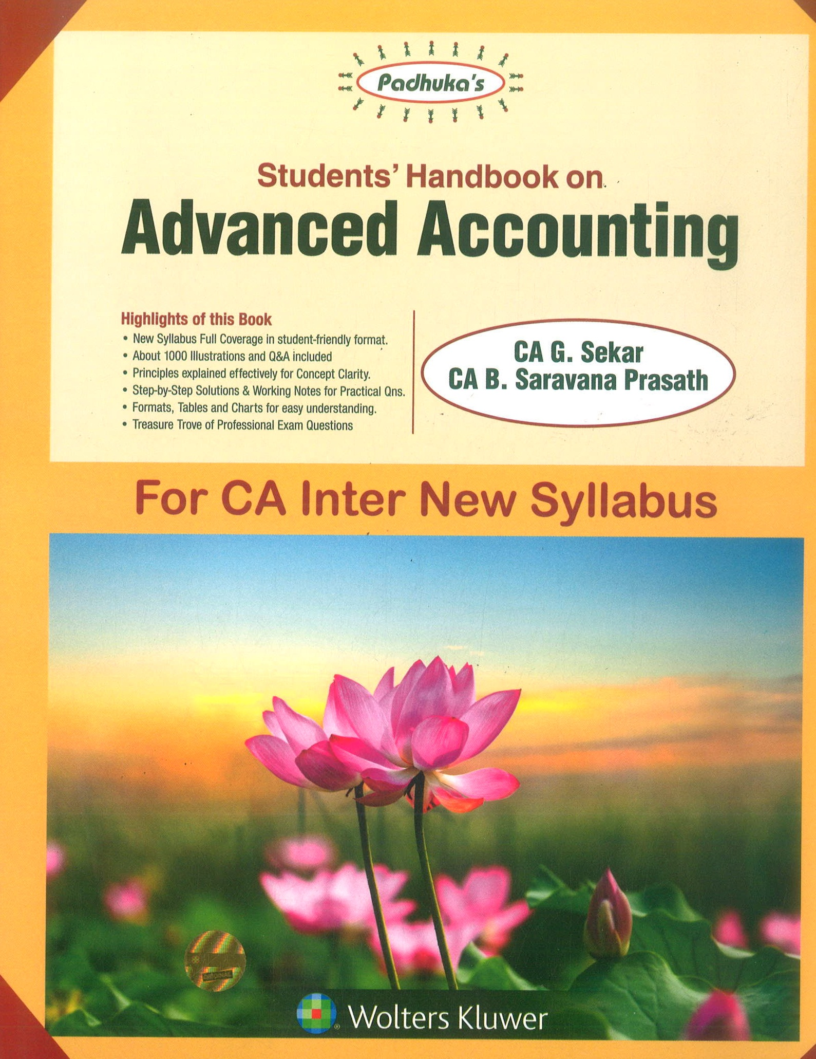 Students' Handbook on Advanced Accounting By Ca B Saravana Prasath Ca G Sekar New Syllabus Applicable for May 2019 Exam