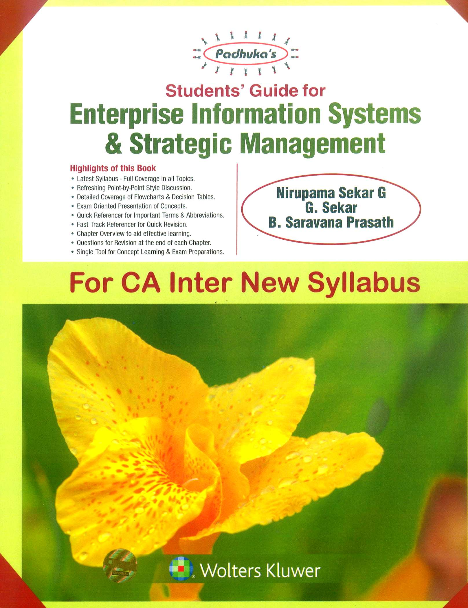 Padhuka Students' Guide for Enterprise Information Systems & Strategic Management for May 2019 Exam by By Ca B Saravana Prasath Nirupama Sekar G Ca G Sekar 2019 Edition