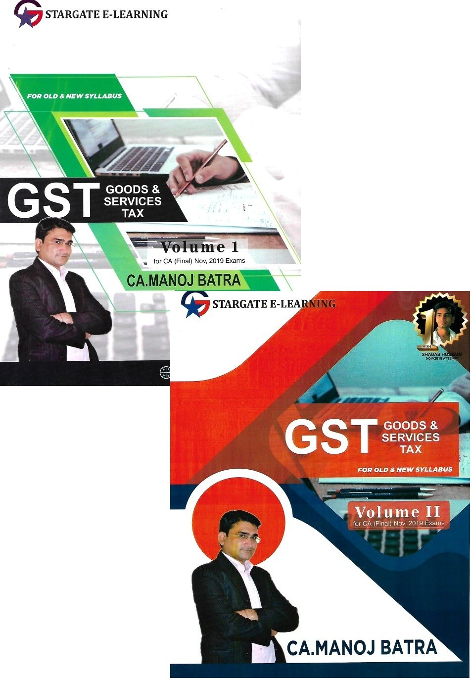 Pooja Law House CA Final Indirect Tax Law GST (Goods And Services Tax ) Old & New Syllabus Both (Set of 2 Volumes) By Manoj Batra Applicable for November 2019 Exam
