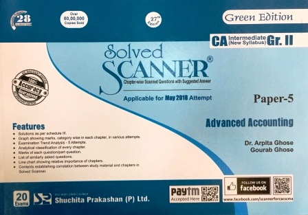 Shuchita Solved Scanner CA Inter Group-I (New Syllabus) Paper-3 Cost and Management Accounting (Applicable for May 2018)  By Dr.Arpita Ghose and Gourab Ghose Jan 2018 Edition