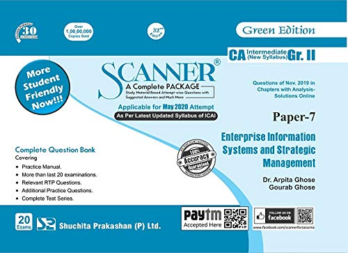 Shuchita Prakashan Solved Scanner CA Inter Group II (New Syllabus) Paper-7 Enterprise Information Systems and Strategic Management By Arpita Ghose and Gourab Ghose Applicable for May 2020 Exam