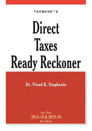 Taxmann's Direct Taxes Ready Reckoner by Vinod K Singhania