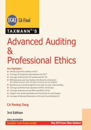 Taxmann's Advanced Auditing & Professional Ethics (CA-Final) by Pankaj Garg [New Syllabus] for May 2019 (Taxmann's Publishing) Edition Dec 2018