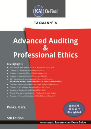 Taxmann CA Final Advanced Auditing & Professional Ethics New Syllabus By Pankaj Garg Applicable for May 2020 Exam
