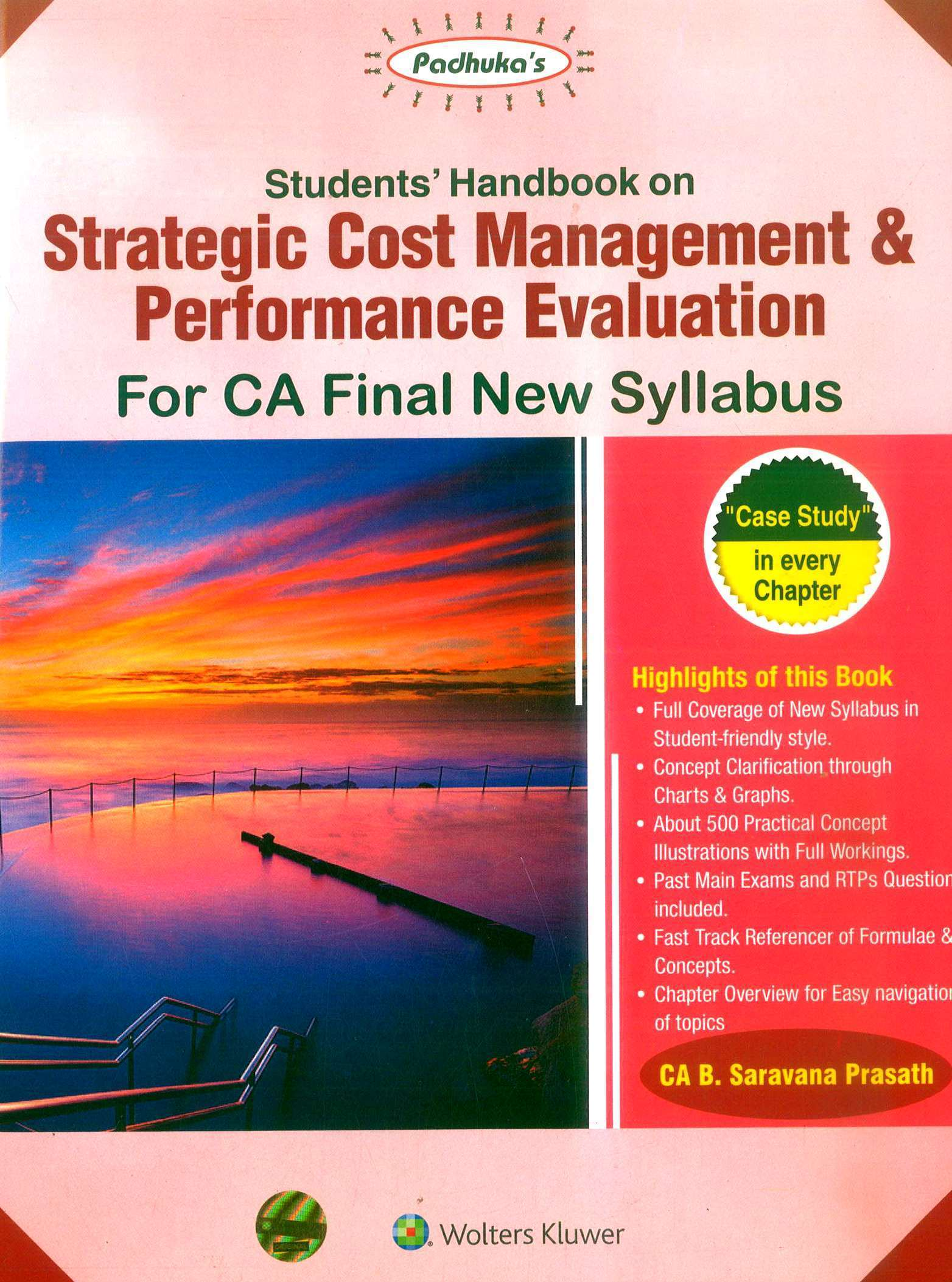 CCH Padhuka's Students' Handbook on Strategic Cost Management & Performance Evaluation for CA Final New Syllabus By B Saravana Prasath Applicable for Nov 2019 Exam