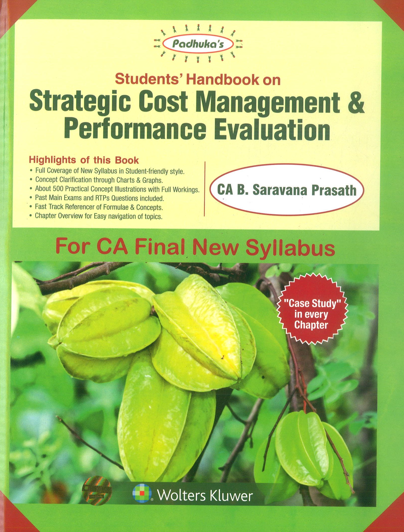 CCH Padhuka's Students' Handbook on Strategic Cost Management & Performance Evaluation for CA Final New Syllabus By B Saravana Prasath Applicable for May 2019 Exam