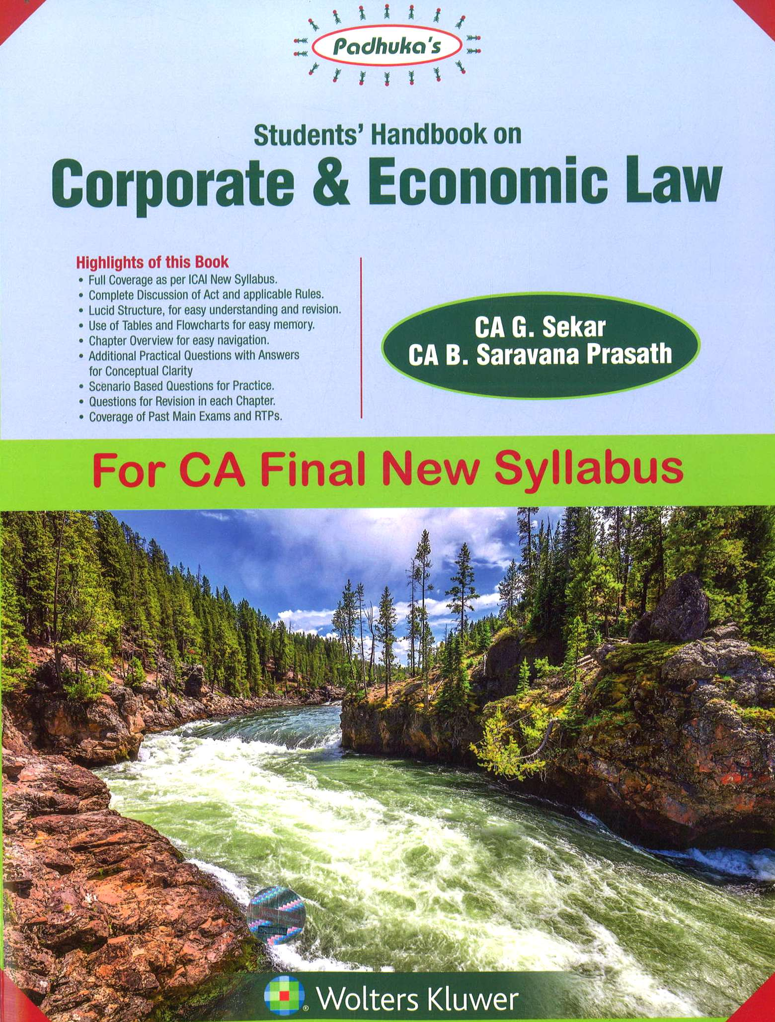 CCH Padhuka's Students' Handbook on Corporate & Economic Law For CA Final New Syllabus by CA G. Sekar CA B. Saravana Prasath Applicable for May 2018 Exam
