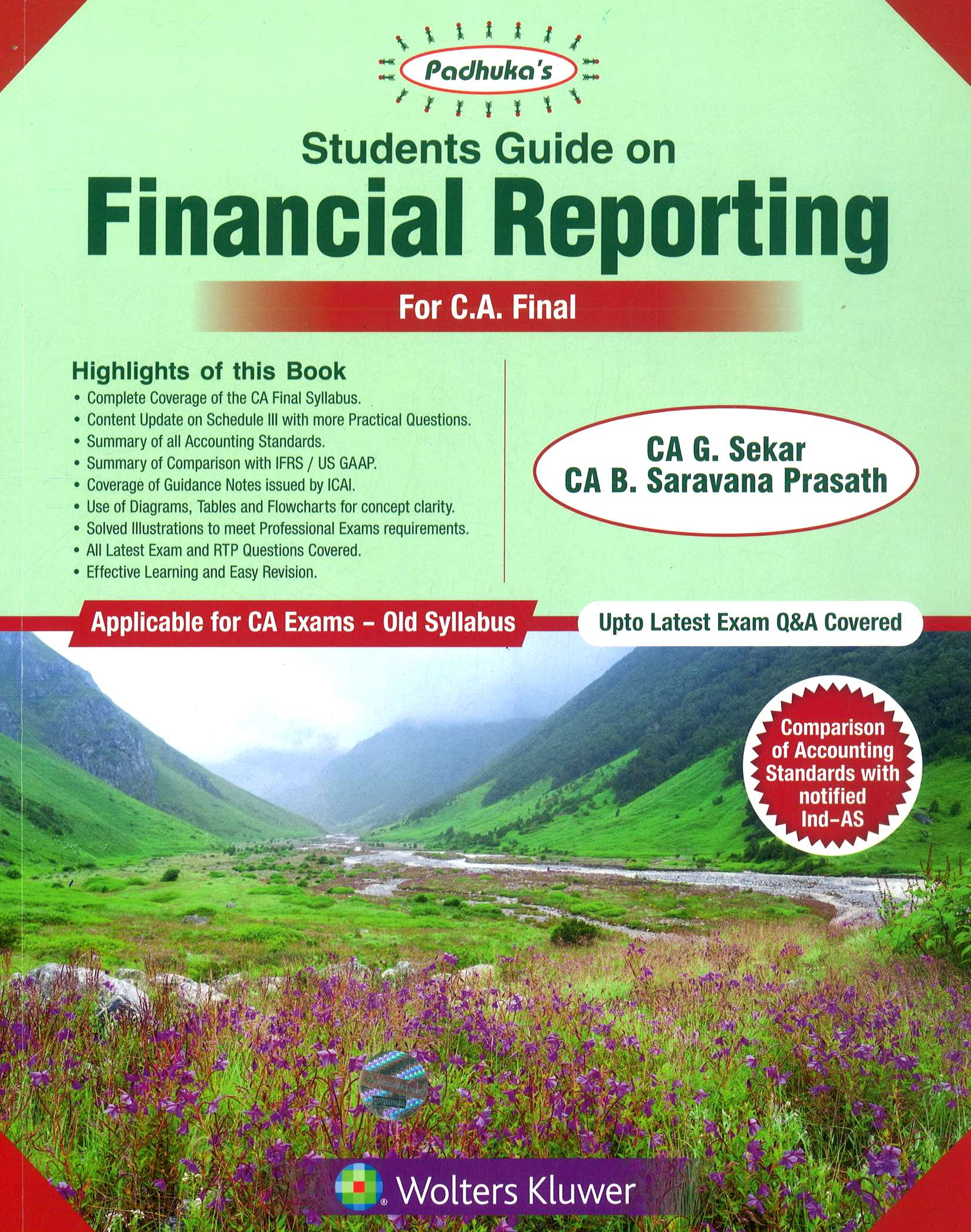 CCH Padhuka Students Guide on Financial Reporting For CA Final by G Sekar , B Sarvana Prasath Applicable for Nov 2018 Exam