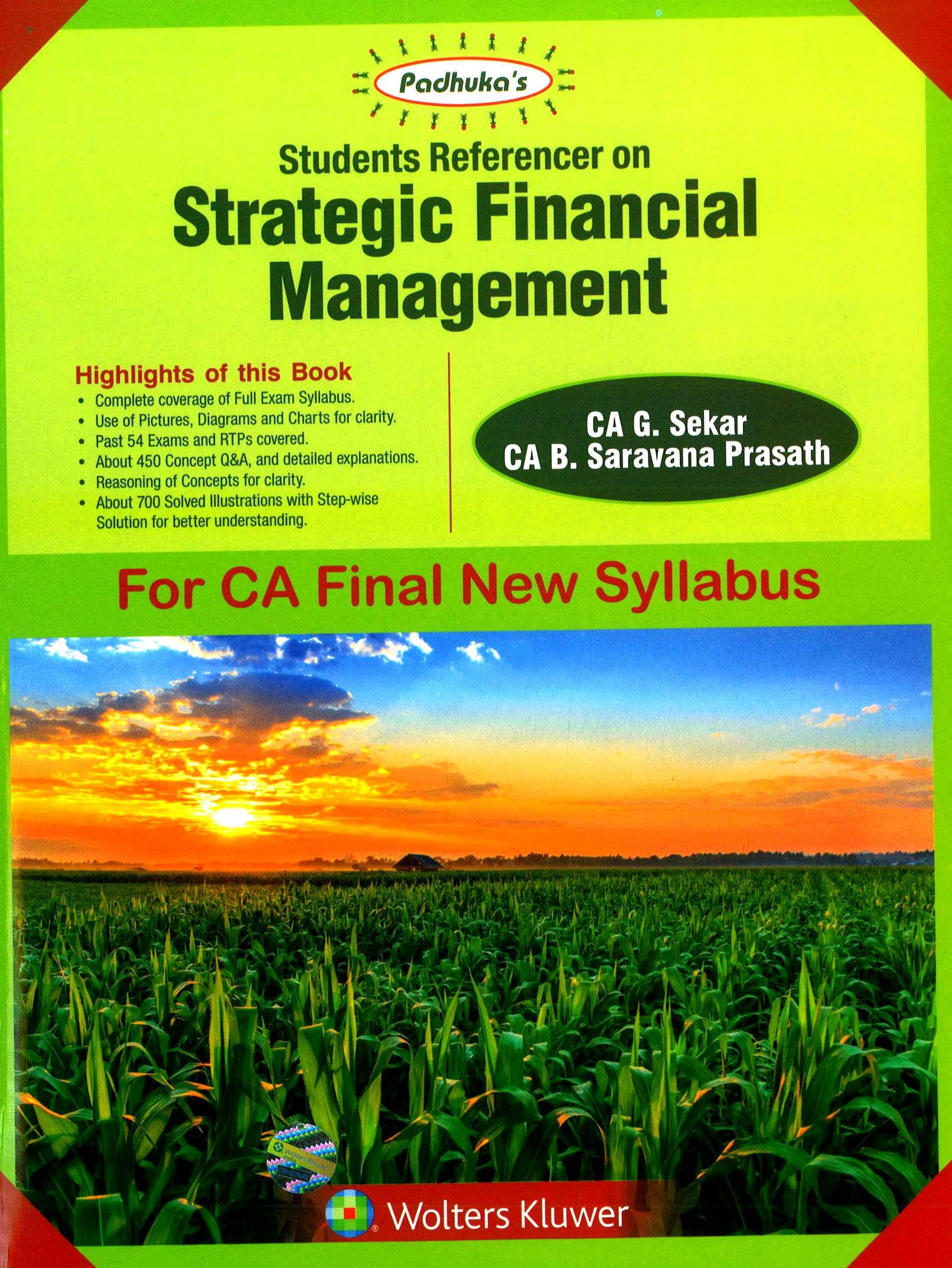 CCH Padhuka Students Referencer on Strategic Financial Management For CA Final New Syllabus CA Final by G Sekar , B Sarvana Prasath Applicable for May 2018 Exam