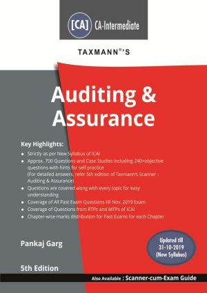 Taxmann CA Inter Auditing & Assurance New syllabus By CA 4Pankaj Garg Applicable for May 2020 Exam