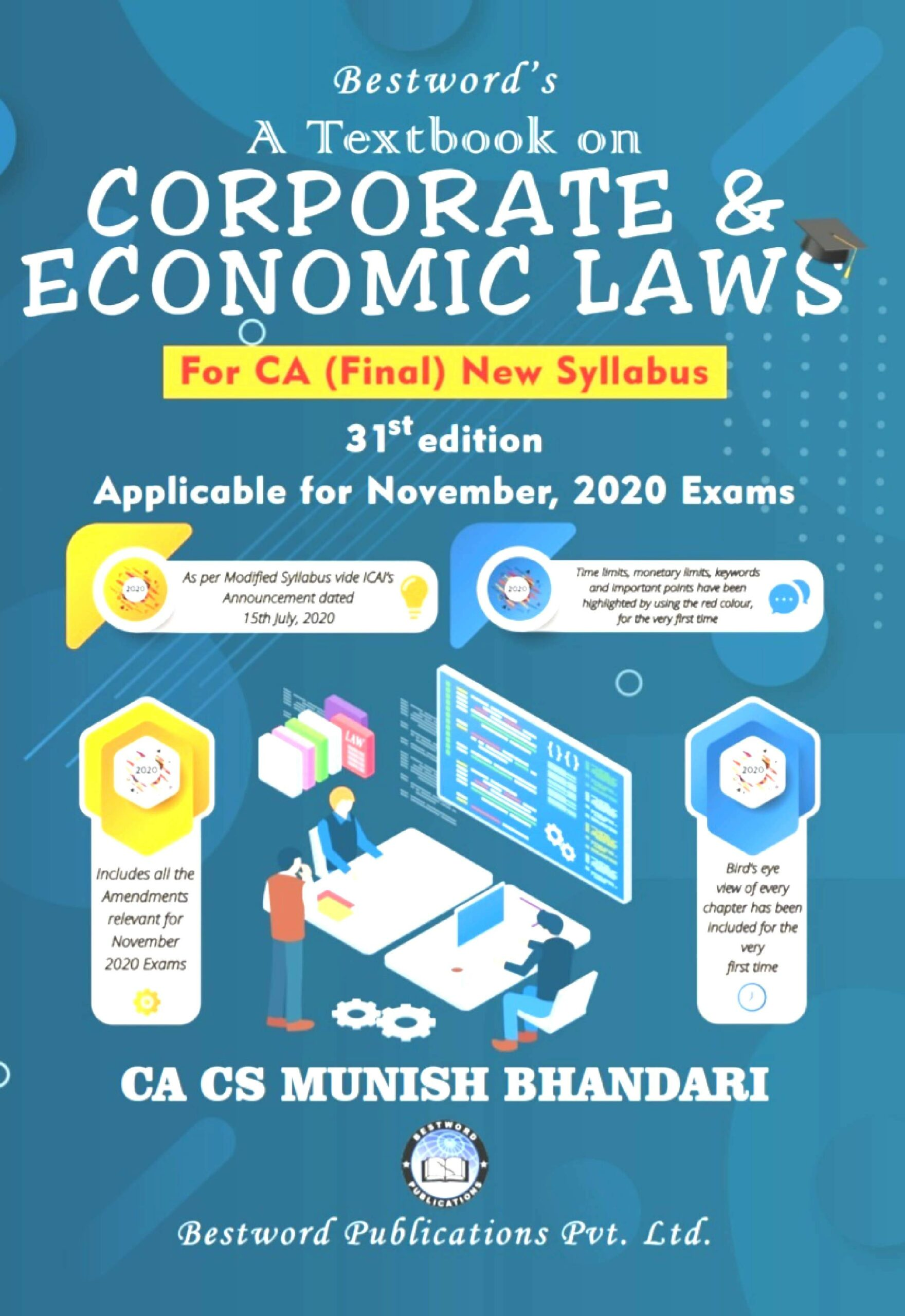 Bestword A Textbook on Corporate And Economic Laws New Syllabus for CA Final By Munish Bhandari Applicable for Nov 2020 Exam Available after 10.08.2020