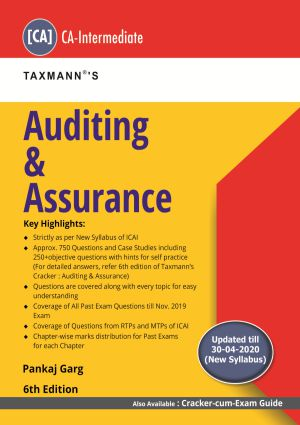 Taxmann CA Inter Auditing & Assurance New syllabus By CA Pankaj Garg Applicable for Nov2020 Exam