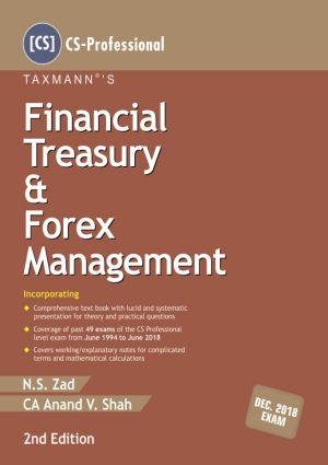 Taxmann CS Professional Financial Treasury & Forex Management By N S Zad Applicable for May June 2020 Exam