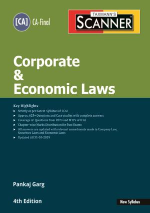 Taxmann's Scanner – Corporate & Economic Laws (New Syllabus) by Pankaj Garg – (CA-Final) – For May 2020 Exams