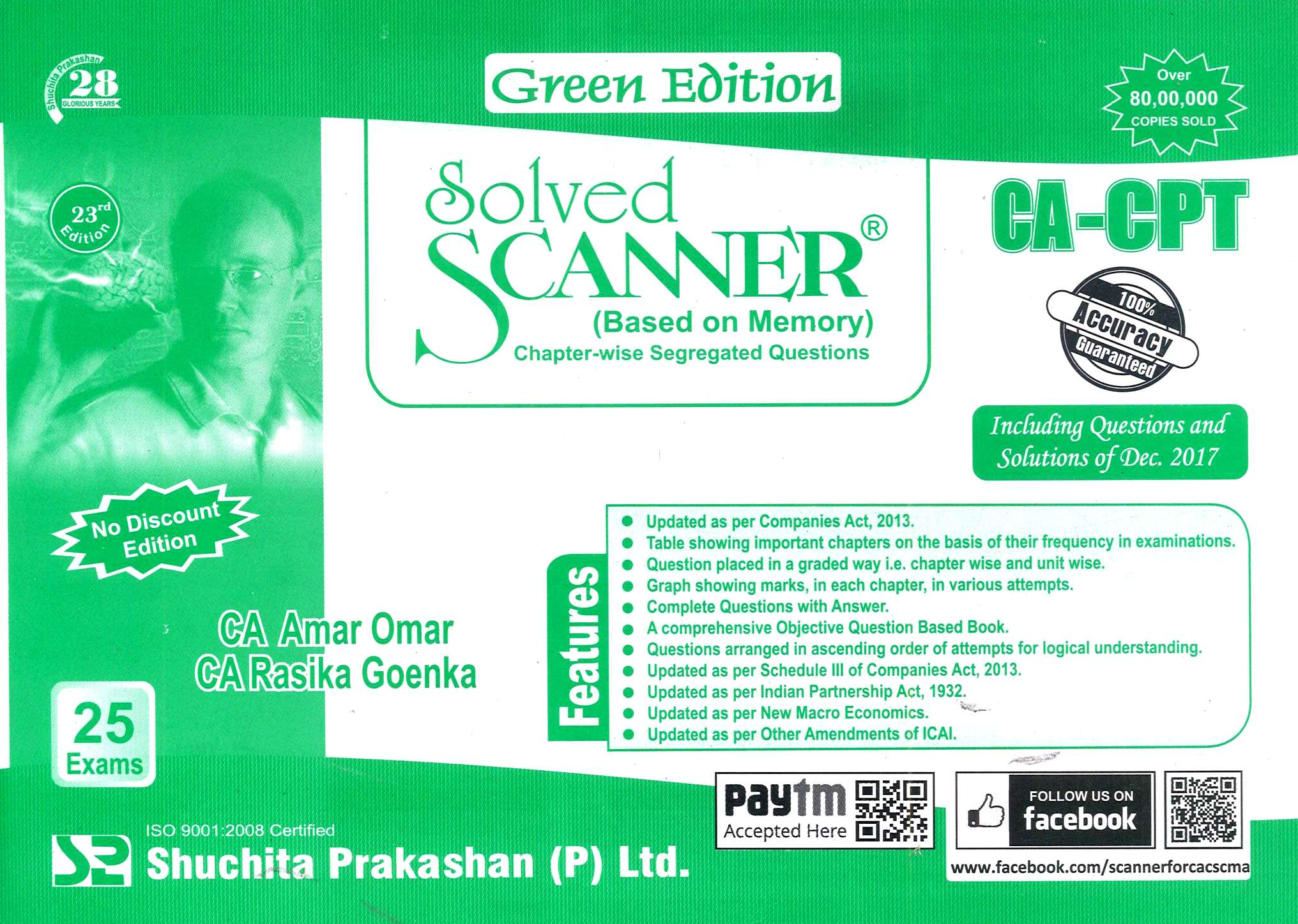 Shuchita CA-CPT Solved Scanner – Based on Memory (Chapter-wise Segregated Questions ) By CA Amar Omar and CA Rasika Goenka Applicable for June 2018 Exam
