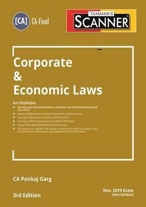 Taxmann's Scanner – Corporate & Economic Laws (New Syllabus) by Pankaj Garg – (CA-Final) – For Nov 2019 Exams